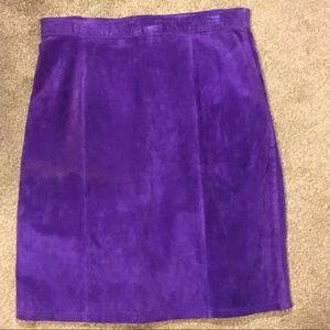 NWOT Suede Purple Skirt, Global Identity